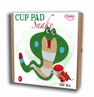 "Felt puzzles and appliques Cup pad ""Snake"""