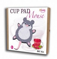 "Felt puzzles and appliques Cup pad ""Mouse"""