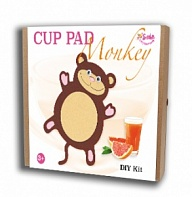 "Felt puzzles and appliques Cup pad ""Monkey"""