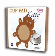"Felt puzzles and appliques Cup pad ""Kitty"""