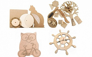 Chipboard, MDF, and Plexiglas™ details