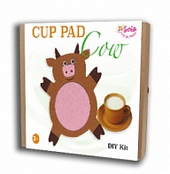"Felt puzzles and appliques Cup pad ""Cow"""